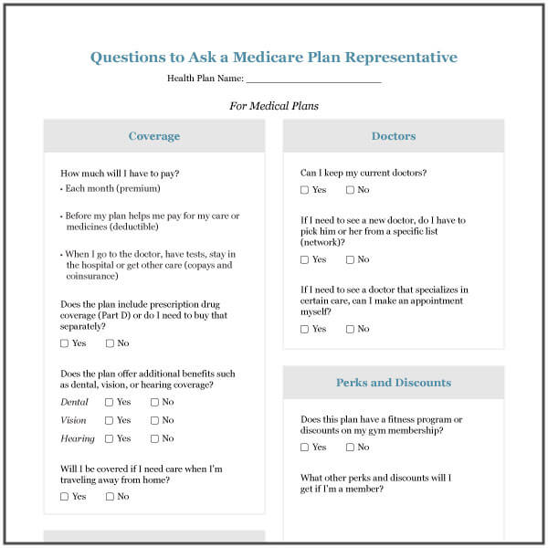 Questions To Ask When Buying A Medicare Plan