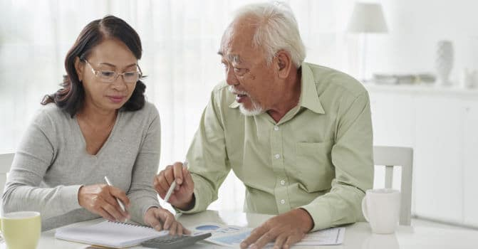 Seniors going over their Medicare Annual Notice of Change